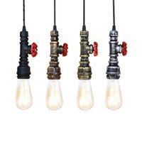 Loft Industrie Eisen Wasserpfeife Steam Punk Vintage Pendelleuchte Kabel E27 LED Pendelleuchten für Schlafzimmer Bar Restaurant Küche