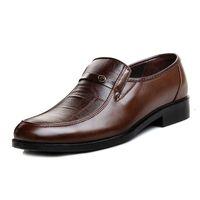 Nuovo arrivo uomo in pelle slip on scarpe punta rotonda estate calzature uomo ufficio lavoro scarpe sapato social masculino