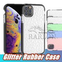 Pour iPhone 13 Pro Max Case Case Soft Pockof Cover Protecteur Cristal Bling Glitter Caoutchouc TPU Case 13Pro 12 Mini 11 XS XR 7 8Plus