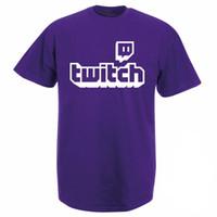 Twitch Tv shirt - Violet Gaming Top Gamer Tee Fête des Pères Fan Cadeaux Manches Courtes Fierté Hommes Femmes Unisexe T Shirt Livraison Gratuite Y19060601