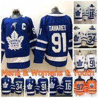 Mens Femmes Youth Toronto Maple Leafs Captai Jersey John Tavares Auston Matthew Connor McDavid Mitchell Marner Hockey sur glace en stock