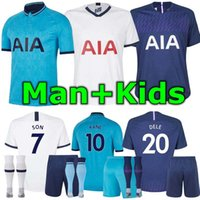 19 20 Spurs man and kids home soccer Jersey Kits 2019 2020 T...