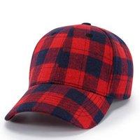 Plaid Hat Baseball 11 Cores Bufflao verificado Unisex Snapback Cap Cotton Hip-Hop ajustável Chapéus 20pcs OOA7455