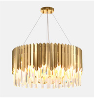 free ship Small round gold crystal led chandelier lighting f...