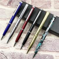 متعددة الوظائف معدن السكين أداة 0.7MM الأزرق حبر قلم حبر جاف الدفاعية رسالة فتاحة قلم حبر جاف الكتابة مستلزمات مكتبية مدرسة HA453