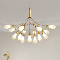 Branch Chandelier Modern Decoration Melanzana FireFly Chandelier Lighting Nordic Hanging le lampade per zona giorno / notte