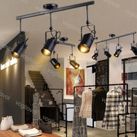 Traccia luminosa E27 Vintage Loft Soffitto creativo per negozio di stoffa Caffè Bar Abbigliamento leggero Tv Sfondo DHL
