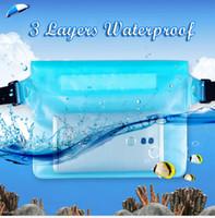 Étanche à la dérive plongée sac de natation sous-marin designer valise poches sèches à la taille pour téléphone portable étui