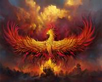 Brand Rebirth Secular Phoenix Heminredning Hantverk / HD Skriv ut oljemålning på kanfas väggkonst kanfas Bilder 200122