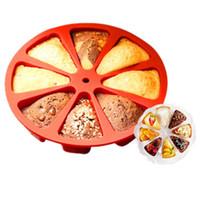 8 Cavity Scone Pans 3D Silicone Bolo Mold DIY Baking Pastry Ferramentas Bolo Mold Forno Pão Pizza Bakeware Jelly Cupcake Mold