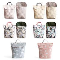 Anne Bebek bezi saklama torbaları için Bebek Bezi Çanta Annelik Çanta Su geçirmez Islak Bez Bebek Bezi Çanta Yeniden kullanılabilir Bezi Kapak Kuru Islak Çanta M1282