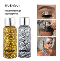 HANDAIYAN Giltter Mermaid Sequins For Face Highlighter Gloss...