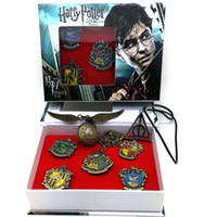 7 Roles Harry Potter Magic Props Hogwarts House Metal Pin Ba...