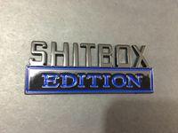 무료 배송 광택 SHITBOX 에디션 블랙 레드 블루 화이트 엠블럼 배지
