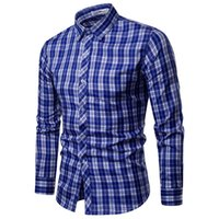 2019 Fashion Brand Shirt For Men Classic Plaid Shirt Casual ...