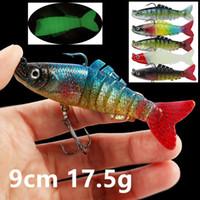 5 اللون 9CM 17.5g متعدد قسم الصيد هوكس الخطافات 6 # هوك الصيد السحر لينة الطعوم السحر PESCA معالجة صيد الاسماك اكسسوارات WL_3