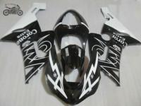 Moto kit di carene Kawasaki Ninja ZX6R ZX636 05 06 ZX6R 2005 2006 corona nera carrozzeria strada carenature Sport Set