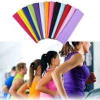 13 Renkler Geniş Spor Yoga Salonu Stretch Pamuk Elastik Yoga Şapkalar Baş Saç Bantları Kızlar Bayan Çocuk Erkekler