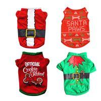 Noël veste pour les chiens costumes à la mode animaux festival chaud de vêtements pour animaux d'hiver confortable Quatre styles de coton t-shirts A07