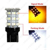 gros T20 / T25 3157 60SMD 1210 Chip Blanc / Jaune double couleur Switchback clignotants LED Light Car # 1592
