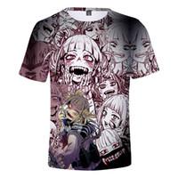 mens tshirts de verão 2019 meu herói Academia Himiko Toga 3D impressão camisas engraçadas Escola Boku no herói t-shirt Academia Anime Colégio