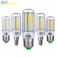 Lampadina Haoxin E27 E14 LED SMD5730 220V Lampadina del cereale 24 36 48 56 69 72LEDs lampadario a lume di candela per la decorazione domestica Fiala