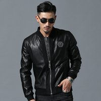 Crossborder Mens Skull Embroidered Skull Jacket Thick Baseba...