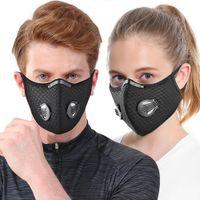 Masques d'équitation Masque carbone Activated Plein Air Anti-buée Haze hommes et femmes chaud masque vélo antipoussière sport Masque gros