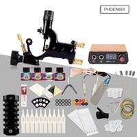 Kit completo kit de tatuagem iniciante kits de máquinas rotativas pistolas 10 conjuntos de alimentação agulhas top tinta
