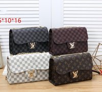 2019 New ladies Handbags Old flower letter logo Clutch bags ...