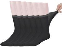 Best Herren Bambus Mittler-Kalb Diabetic Socken mit Seamless Toe, 6 Paar L Größe (Socken Größe: 10-13) CX200630