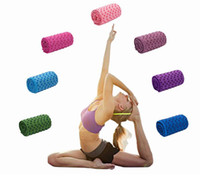 йога упражнения пледы полотенца антискольжения Йога Маты Фитнес упражнения Пледы Нет коврик полотенце с сумкой Mesh Bag