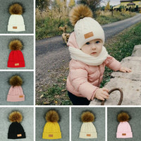 Çocuk Örme Beanie Şapka Çocuklar Elastik Düz Renk Kış Sıcak Kayak Kap Moda Kız Yumuşak Ponpon Topu Şapka TTA1685