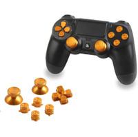 Palanca para joystick de metal Kit de cubierta Miniaturas de bala con ABXY Bullet Buttons y D-pad para el controlador de PS4 Mod Kit DHL FEDEX EMS ENVÍO GRATIS
