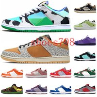 2020 Chunky Dunky SB Dunk Designer Authentique Skateboard Sneakers Safari Chunky Dunky Hommes Blanc Casual Chaussures Mode Travis Scotts Formateurs