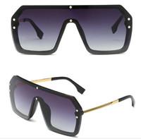 2019 nuova scatola tendenza siamese FF grande scatola una lente uomini e donne occhiali da sole