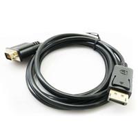 1.8 M DisplayPort to VGA Converter Cable Adapter DP Male To VGA Male Cable Adapter 1080P Display port Connector для MacBook HDTV