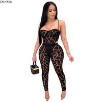 Summer Women Set Tracksuits Perspective Mesh Strapless Bodys...