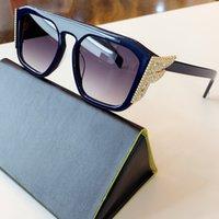 ترف النظارات الشمسية drands 2020 ربيع جديد FF المتضخم مربع مجموعة الجانب الإطار مع الماس الكريستال مع مرآة وأشار الماس ذيل FF0381 /