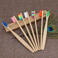 Bambú cepillo de dientes cepillo de registro de protección del medio ambiente de bambú de carbono rectificado cepillo de dientes punto de seda del viaje Hotel cepillo de dientes T9I00224