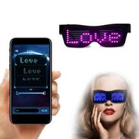 Personnalisable Lunettes LED Bluetooth pour Raves, Festivals, Divertissement, fête, le sport, costumes, EDM, clignotant - Messages d'affichage, Animation,