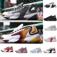 Zapatos m2k Tekno zoom 2K Hombres casuall 2000 Negro de vela de la Marina Blanco Naranja buena calidad de los zapatos del diseñador Deportes Tamaño instructor para hombre de 7-12