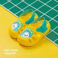 Sandalias Telotuny Zapatos para niños Niños Niñas Cerrado Toe Summer Beach Dibujos animados Animal Baotou Hogar Sneakers Niños Sandalia