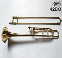 Stati Uniti Bach BACH 42BO Trombone tenore verniciato in ottone dorato trombone professionale boccaglio strumento musicale con il caso libero di trasporto