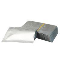 Sac plat en aluminium blanc pur, 6x9cm, 200pcs / lot, petit paquet de placage purement mylar, sacs de conservation des aliments en poudre de lait, emballage simple