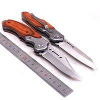 Тактический нож выживания карманный складной нож открытый кемпинг пешие прогулки охотничьи ножи 440c лезвие деревянная ручка мультитул EDC инструменты