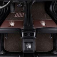 ماتس الأرضية سيارة لشعار Tesla نموذج S / X Fit Jaguar F-pace F-Type XF XJ XE XFL ل Alfa Romeo Stelvio Giulia Car-Styling Carpet