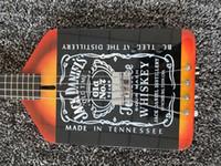 Custom Shop 4 Strings Michael Anthony Van Helen Chickenfoot jackdaniels Whiskey Noir Guitare basse électrique Matériel noir, Tremolo cordier