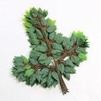 أوراق الزخرفي بيونيك محاكاة مصنع بانيان الورقة الخضراء الصناعية البيئية حديقة متعددة الوظائف