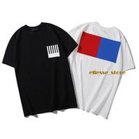 19SS Monogramm-Buchstabe Geometrische Printed Modedesigner Herren T-Shirt Sommer-T-Shirts T-Shirts T-Stück beiläufige einfache Männer Frauen Straße Short Sleeve